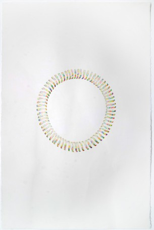 © LARS HINRICHS, UNTITLED (PARTY STREAMER_OUROBOROS), 2012, AQUARELLE, 101 X 76 CM