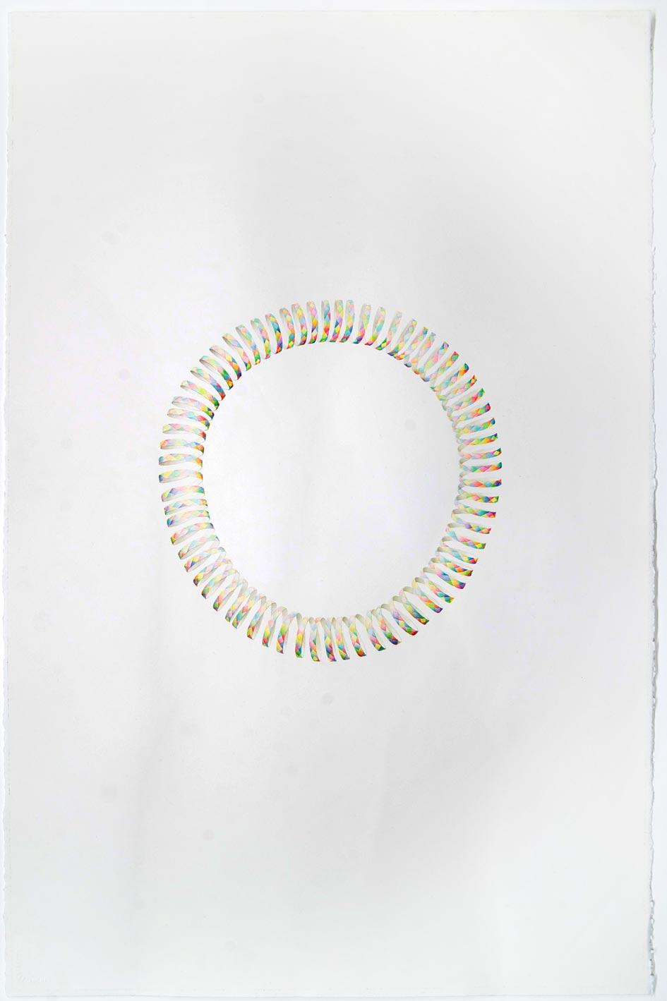 © LARS HINRICHS, UNTITLED (PARTY STREAMER_OUROBOROS), 2012, AQUARELLE, 101 X 76 CM